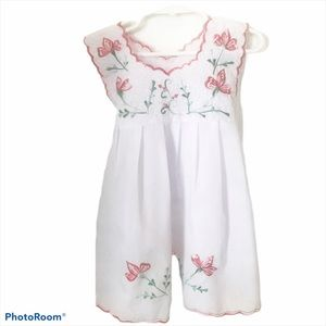 Embroidered Floral Dress Size 2